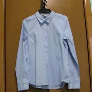 H&M Blue/White Striped Buttoned Shirt - Size 14